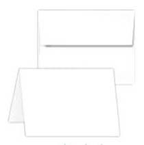 plain white note card